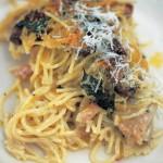 Pollo con Setas de Jamie Oliver (spaghetti tetrazzini)